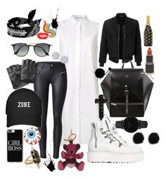 """""""RIAN"""" by khadijacee on Polyvore featuring T By Alexander Wang, Puma, LE3NO, Karl Lagerfeld, Ray-Ban, Burberry, Casetify, CLUSE, Marc Jacobs and Georgia Perry"""