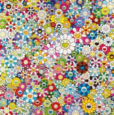 TAKASHI MURAKAMI (JAPANESE, B. 1962) When I Close My Eyes, I See Shangri-la signed 'TAKASHI'; dated '2012 NOV'; signed with artist's signature (on the reverse) acrylic on canvas 200 x 200 cm. (78 ¾ x 78 ¾ in.) Painted in 2012
