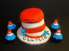 Doctor Suess cake and cupcakes!