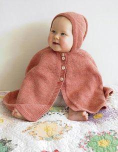 knit a beautiful cape!  so sweet.