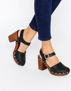 ASOS | ASOS ONLY ONCE Leather Heeled Shoes