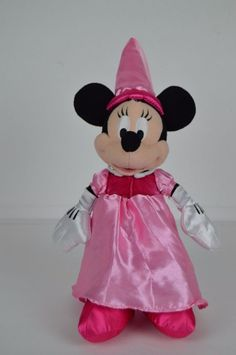 Disney Parks 12 inch Princess Minnie Mouse Plush Doll Pink dress FREE SHIPPING #Disney