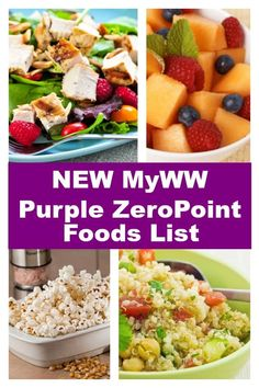 myWW Purple ZeroPoint Food list reminds me of Simply Filling including more than 300 foods such as fruits, vegetables, lean protein, potatoes and whole grains. Ww Recipes, Whole Food Recipes, Cooking Recipes, Healthy Recipes, Dinner Recipes, Recipies, Weight Watchers Meal Plans, Health, Rezepte