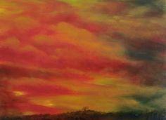 'Red Sky' by Petar Novakovic www.petarart.co.uk Sky, Artist, Painting, Heaven, Heavens, Painting Art, Paintings, Painted Canvas, Drawings