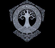 40 Ideas For Norse Tree Of Life Tattoo Vikings Fenrir Tattoo, Norse Tattoo, Celtic Tattoos, Viking Tattoos, Maori Tattoos, Polynesian Tattoos, Filipino Tattoos, Tribal Tattoos, Mandala Tattoo Design