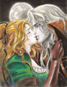 Maria and Alucard.he's mine.but it's cannon so. Alucard Castlevania, Castlevania Netflix, Castlevania Lord Of Shadow, Fantasy Love, Dark Fantasy, Fantasy Art, Character Drawing, Game Character, Vampire Hunter D