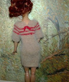 Cashmere handmade sweater -dress for Tonner Tyler, Sydnei Chase, Brenda dolls. unpaid item case will be open. | eBay!