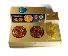 Eek! I used to have this! Vintage Fisher Price Stove Top 1978.