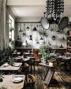48 ideas for brunch restaurant interior bar Buffet Restaurant, Decoration Restaurant, Deco Restaurant, Restaurant Seating, Restaurant Kitchen, Small Restaurant Design, Coffee Shop Design, Küchen Design, Bistro Design