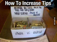 Clever tips jar