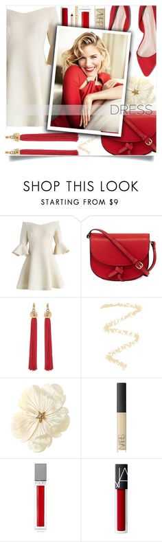 """""""Spring Trend: Off-Shoulder Dresses"""" by loloksage ❤ liked on Polyvore featuring Chicwish, KC Jagger, Yves Saint Laurent, Topshop, NARS Cosmetics and Sisley"""