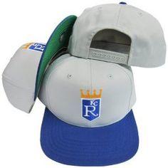 Kansas City Royals Retro Logo Snapback Cap Hat Grey Navy