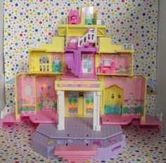 Bluebird Polly Pocket Victorian Clubhouse Pop-Up Play Mansion Structure