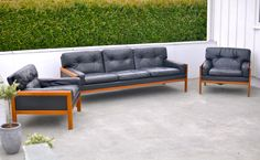 My Fredrik Kayser sofa & lounge chairs for Vatne Møbler