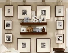 Gallery - Memory Wall - could do something like this with the ikea hanging squares I have