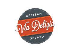 Via Delizia Vintage Logo Design Inspiration