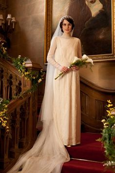 Downton Abbey Season 3 Oh yes, who could forget the wonderful (and long awaited) wedding of Lady Mary and Matthew Crawley? Kicking off the third season of the award-winning period drama, the details of the nuptials were kept under wraps for months - as was that 1920's fab frock!