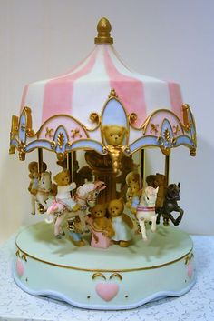 Cherished Teddies 15 Year Anniversary Musical Carousel