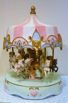Cherished Teddies 15 Year Anniversary Musical Carousel