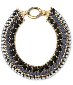 Chic Choker Necklace With Gold Plated Chain And Artifical Crystal - View All - New In