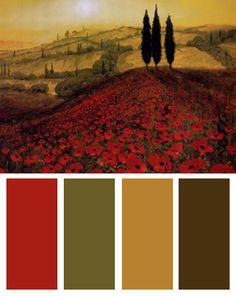 Poppy Field Color Palette (Poppy Field art print by Steve Thoms)