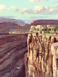 Grand Canyon Skywalk viewing platform - there is no way you will ever catch me on that.  Ever.