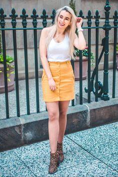 Pop me up! | Cotton Mini Skirt