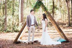 Una bonita boda con un toque rústico