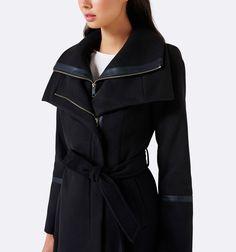 Forever New - Penelope Wrap Coat Black