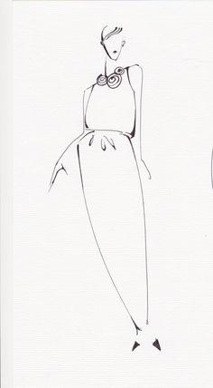 Designer's sketch of ESME VIE Summer 2014 Collection Preview