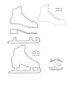 by Melyssa Connolly for fantastink.blogspot.ca: Ice Princess and Figure Skate Template