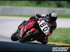 Kurtis Roberts riding the CBR 900RR at 1999 AMA Formula Xtreme Championship