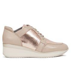 b2498ed3ea1 Zapato Deportivo cuña mujer Oro Rosa MEMORY FOAM - miMaO Zapatos – miMaO  ShopOnline Zapatos Deportivos