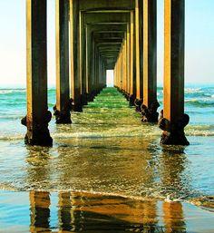La Jolla CA, Beach, Pier, Print on Canvas