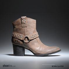 The Born Slater #western inspired #harness #boot.  #ankleboots #trends #studs