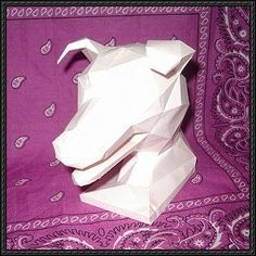 Dog Head Free Paper Model Download