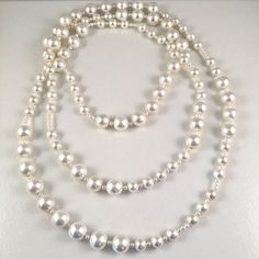 Long pearl necklace by JiaojiaosPearls on Etsy