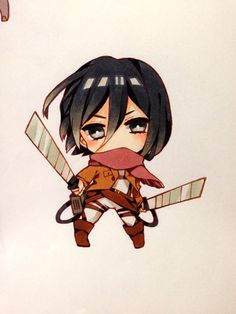 Attack on Titan | Mikasa Ackerman chibi