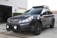 2013 subaru outback limited bull bar with lights - Google Search