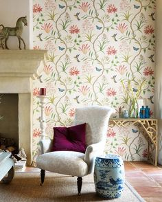 Papel pintado para decorar un rincón #decor #wallpapers
