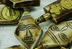 JUST IN !!! VINTAGE Horn Perfume Pendants BULK LOT of 5 by NorahzBeadSupplies, $29.95
