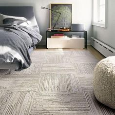 FLOR Fully Barked Tundra 19.7 in. x 19.7 in. Carpet Tile (6 Tiles/Case)-68-4000-03 - The Home Depot