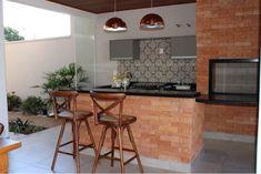 Varanda Gourmet #varanda #gourmet #churrasqueira #tijolos #tijolinhos #aparentes #tipo #demolição #banquetas #revestimento #ladrilho #hidráulico #ceusa