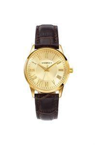 Elegante y con personalidad, este reloj Viceroy, resalta por sus detalles únicos, lectura de la hora en 3 agujas, caja toda en color oro amarillo y números romanos. www.relojes-especiales.net #piel #reloj #watch