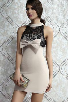 Bowknot Mini Dress