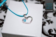 Heart Necklace Enamel Blue Eye Sterling Silver white Gold plated Religious Handmade Jewelry Baby Girl Boy Baptism Newborn My Prince Princess Jewelry Clasps, Enamel Jewelry, Jewelry Shop, Handmade Jewelry, Boy Baptism, Valentines Jewelry, Necklace Lengths, White Gold, Sterling Silver