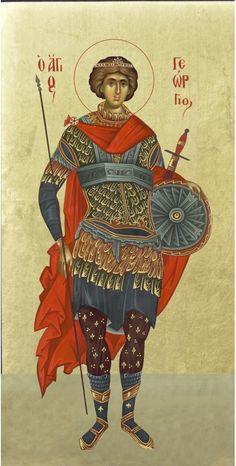 Άγιος Γεώργιος / Saint George Byzantine Icons, Byzantine Art, Religious Paintings, Saint George, Orthodox Icons, Persecution, Fantasy Characters, Art Reference, Christianity