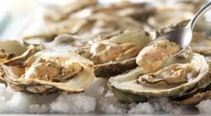 Char-Grilled Oysters with Creole Remoulade Grilling Recipes, Seafood Recipes, Cooking Recipes, Cajun Recipes, Summer Recipes, Holiday Recipes, New Years Appetizers, Grilled Oysters, Oyster Recipes