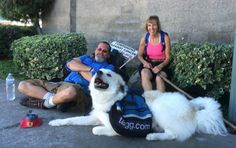 Man and Dog Walk from Canada to Mexico to Raise Cancer Awareness