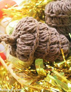 Crochet Pine Cone Fee Pattern
